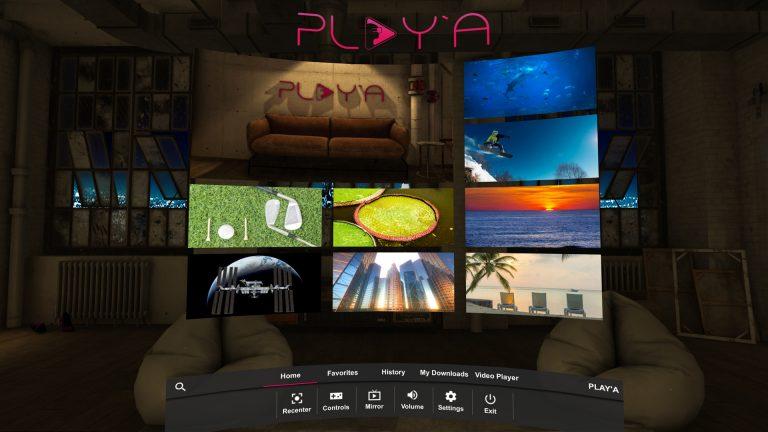 VR video spelers Playa